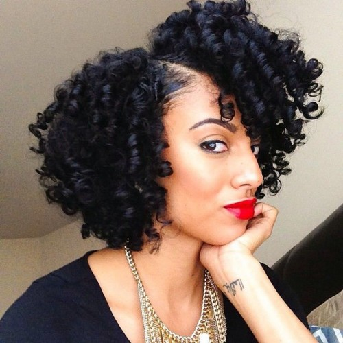 curly bob for black hair