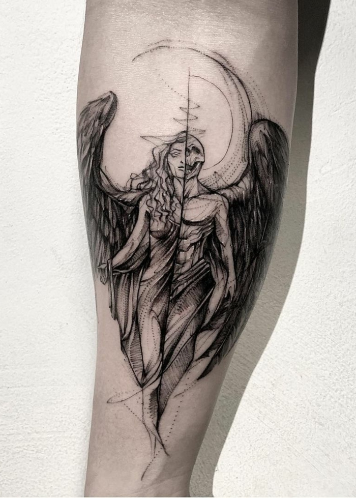 angel tattoos on arms