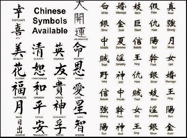 chinesse tattoo symbols