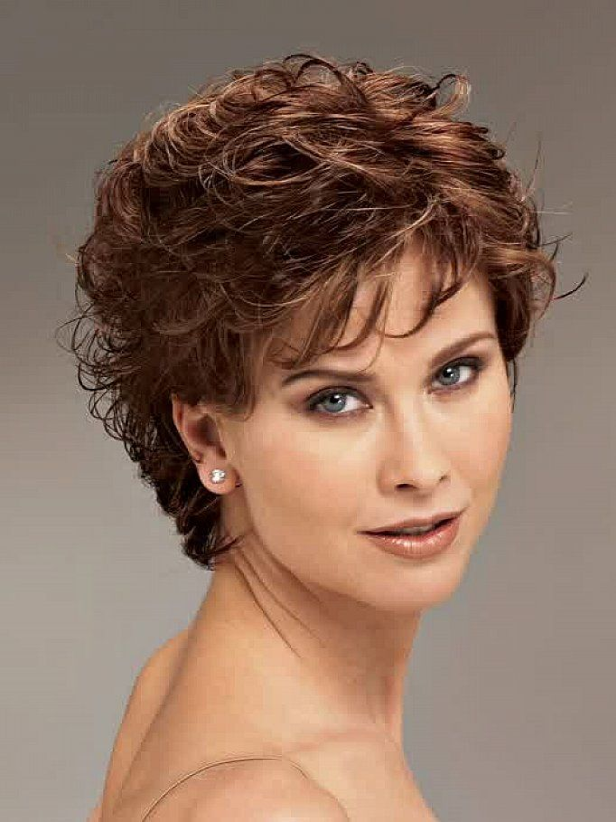 short curly hairstyles for round faces