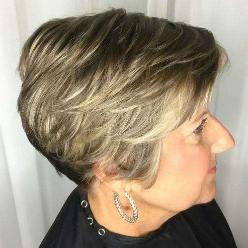 short feathered hair