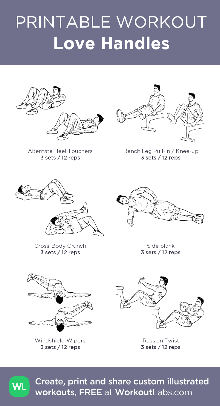 love handle workouts at home