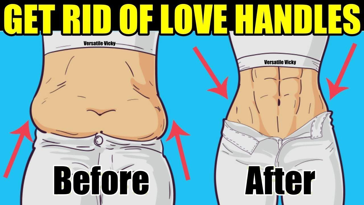 how to get rid of love handles men
