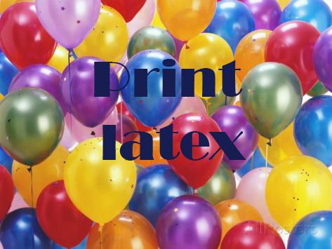Print latex