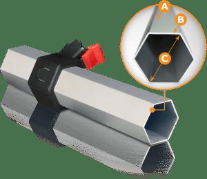 cort aluminiu profil