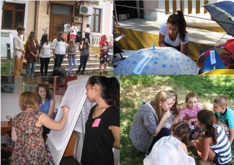 """BIBLIOVACANTA - Proiect derulat cu ajutorul a 11 voluntari, elevi si studenţi, care au înţeles că biblioteca este o casă a tuturor celor care vor să înveţe şi că educaţia este un proces continuu la care putem contribui împreună. Pe toata perioada vacantei de vară, adolescenţii au contribuit la derularea a 5 cluburi destinate copiilor cu vârste între 6 -13 ani (Focşani, iunie –august 2016) Biblioteca Judeţeană """"Duiliu Zamfirescu"""" Vrancea"""