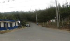 Cruce de Coris, en la ruta Patarrá-Coris