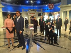 Salão dos ex-presidentes e políticos americanos.