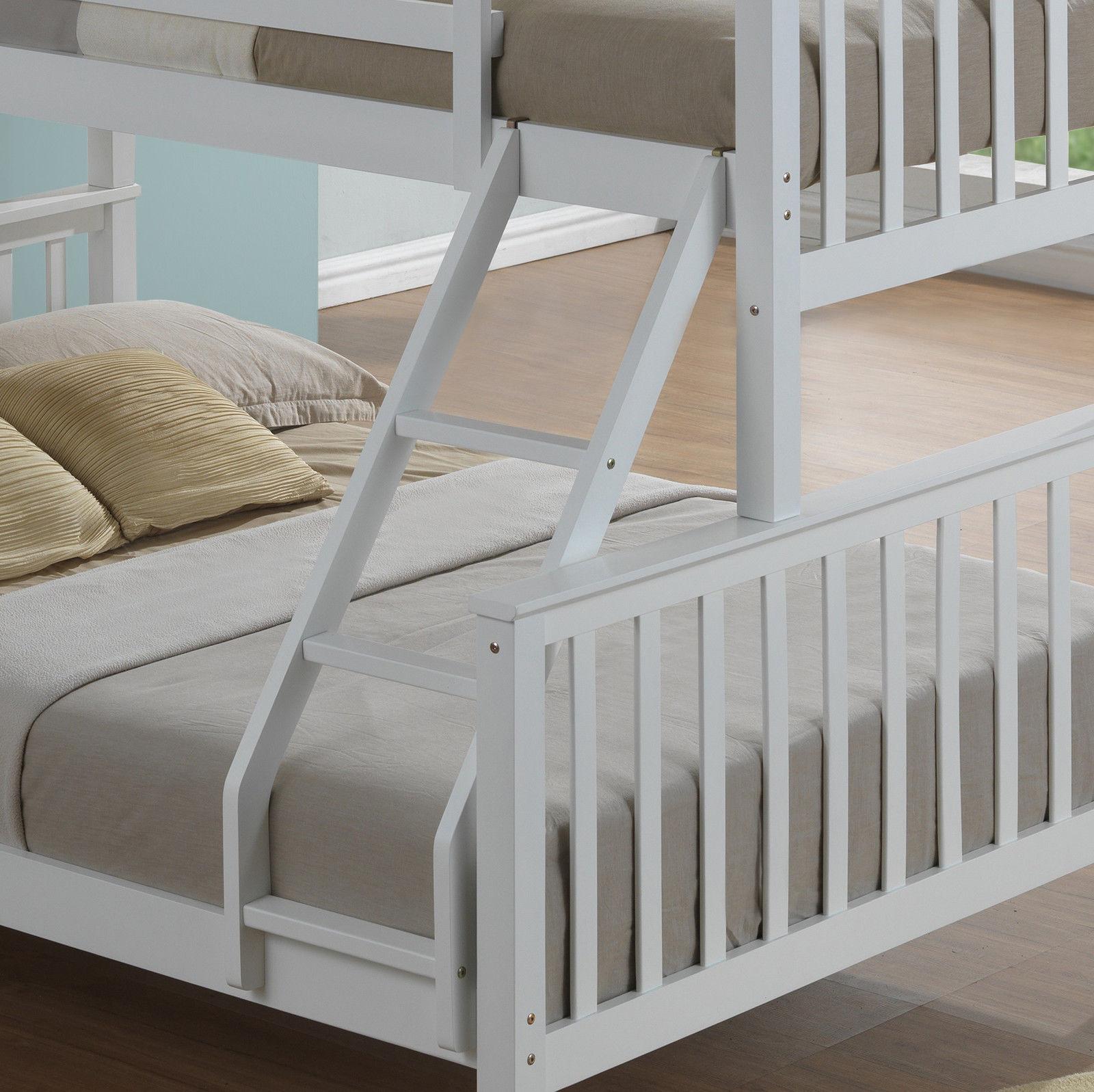 Modern 3 Sleeper White Childrens Bunk Bed  Inc Drawers