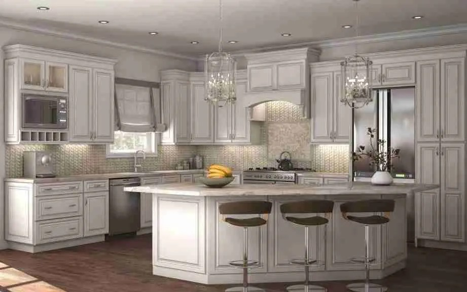 Cubitac Cabinetry Imperial Kitchen Cabinets with White