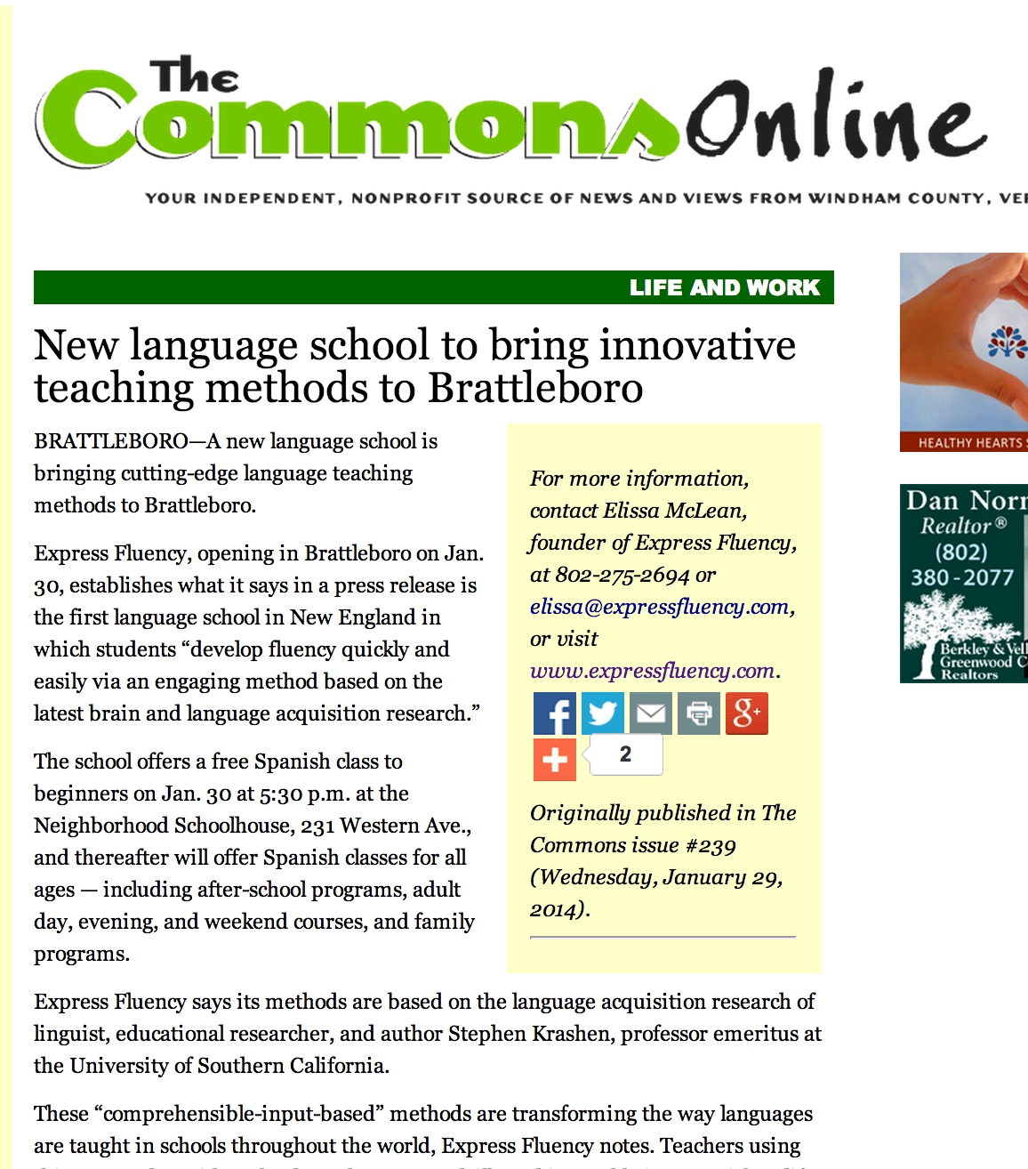 Innovative Ways Of Classroom Teaching : Express fluency in the news