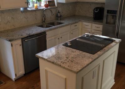 black stainless steel kitchen single bowl undermount sink granite countertop | gallery slabs o ...