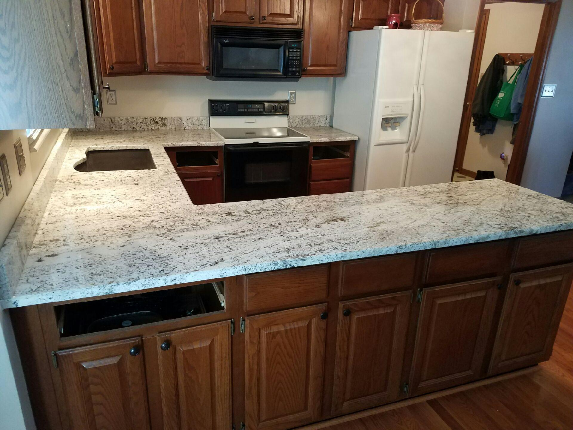wilsonart kitchen cabinets triple sink granite countertop | gallery slabs o ...