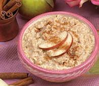 Oatmeal w/ Apples & Cinnamon