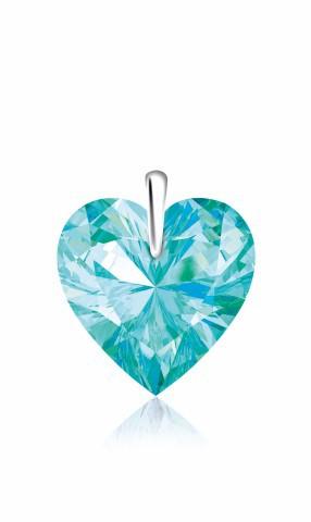 hanger_-_hart_light_turquoise_zilver