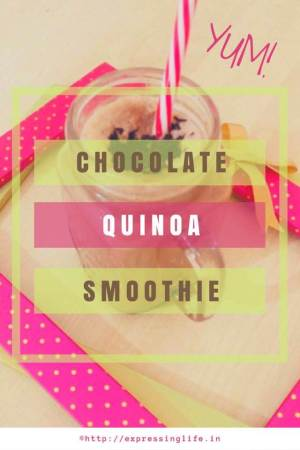 Chocolate Quinoa Smoothie Recipe - A Healthy Breakfast Alternative | Expressing Life