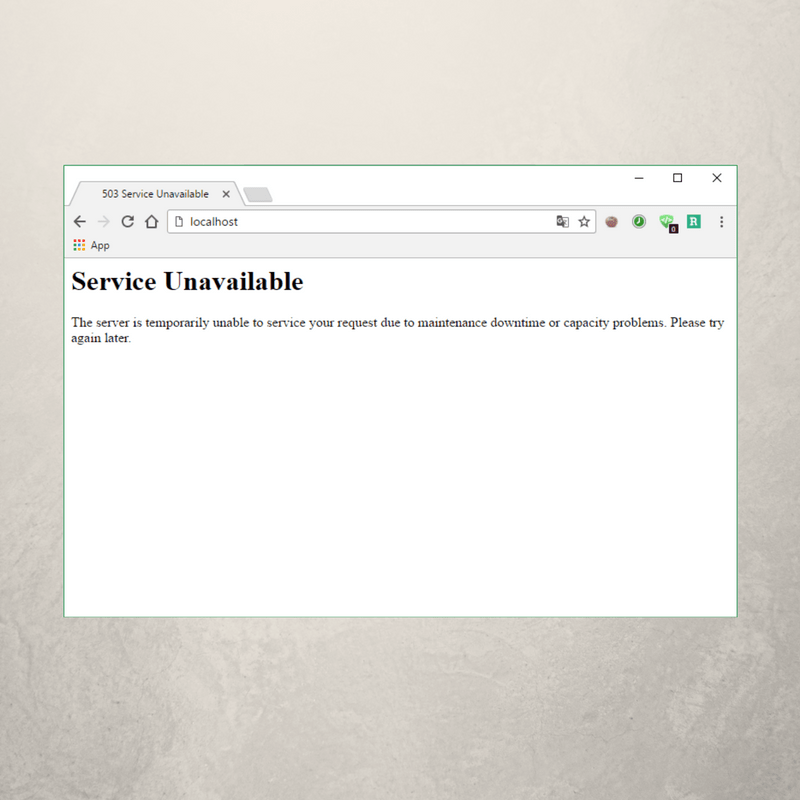 Say It in German: 503 Service Unavailable