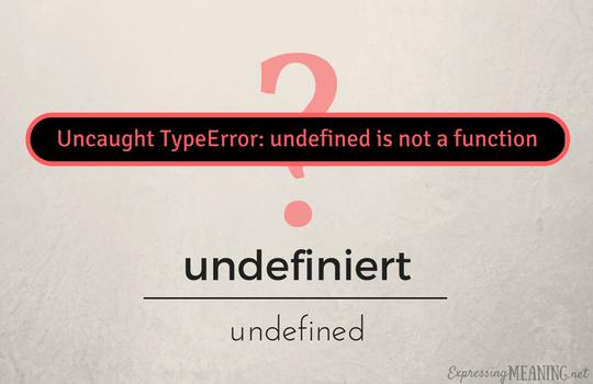 undefiniert - undefined