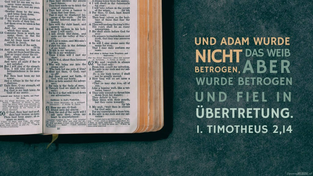 1 Timothy 2:14 - Übertretung - transgression