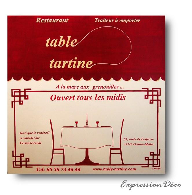 table tartine