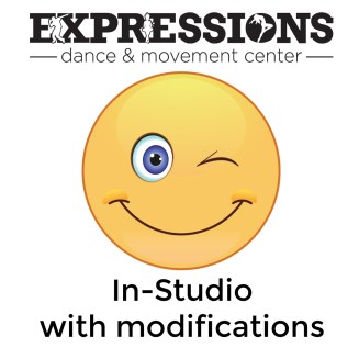 In Studio Dance Classes with some modifications- Live Streaming Classes still available