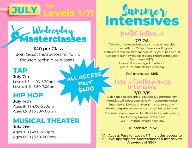 summer camps, kids camps, summer classes, summer dance, dance parties