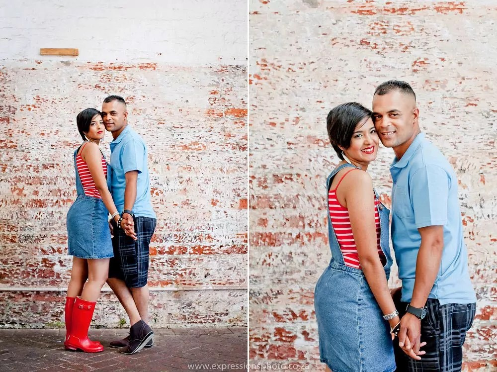 colourful engagement shoot old biscuit mill woodstock
