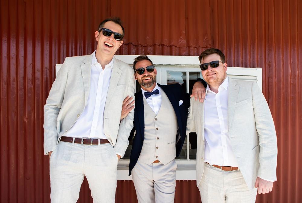 Groom and best men simonstown wedding