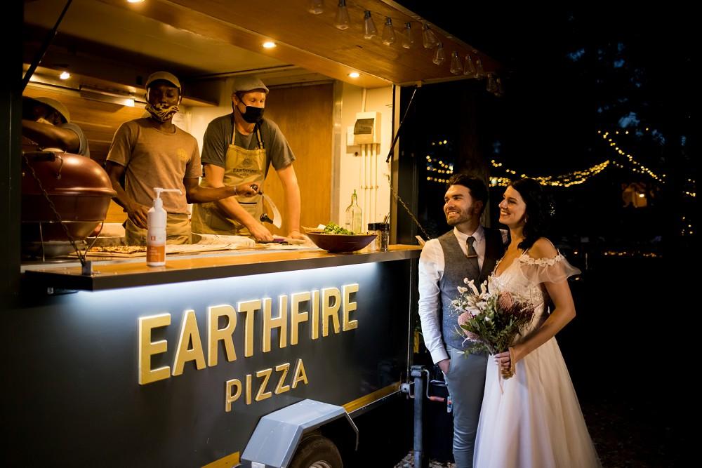 Cherry Glamping wedding Earthfire food truck