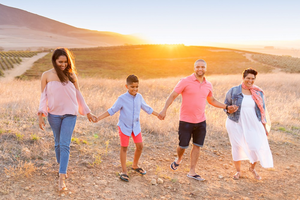 Loch Lynne family photo shoot sunset