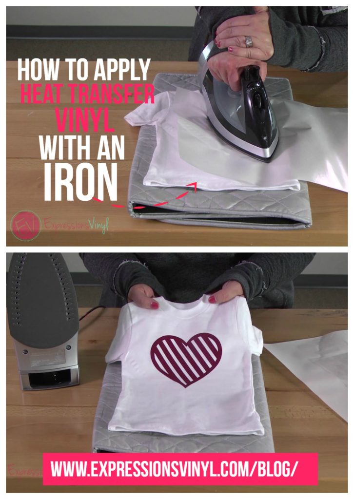 Heating Up Using An Iron To Apply Heat Transfer Vinyl Expressions Vinyl