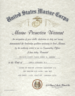 USMC Enlisted Promotion Warrant