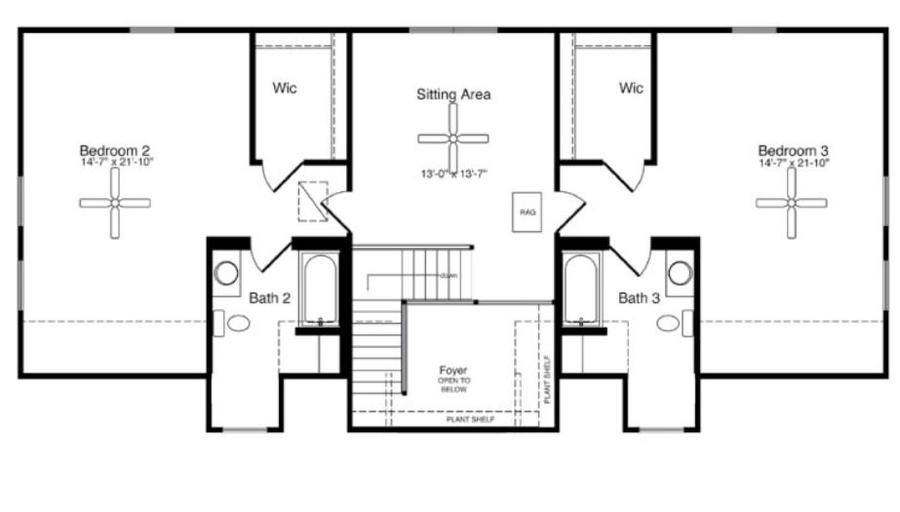 2754 Square Foot Cape Floor Plan