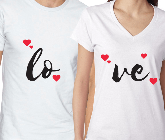 Valentines Day Couples Matching T Shirt