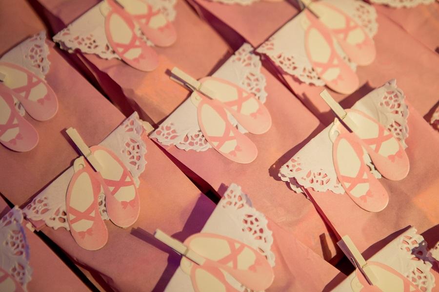 expressogourmet festa bailarina lembrancinha saquinho doce Festa Infantil com Tema Bailarina