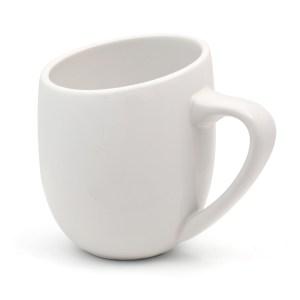 Offero White Gloss 12oz Ceramic Cup