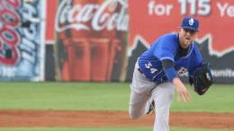 Biloxi Shuckers pitcher Tyler Wagner pitches against the Chattanooga Lookouts on Sept. 19, 2015.