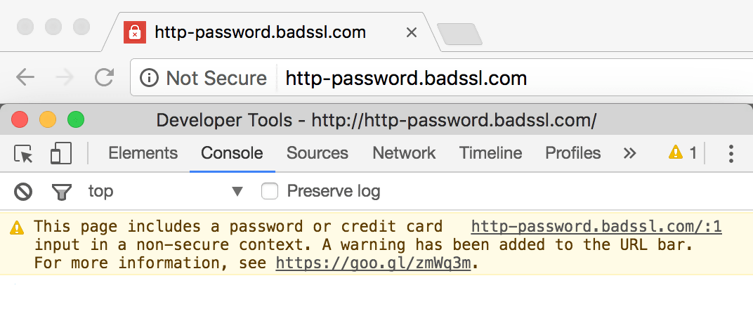 website not secure - Google warn visitors
