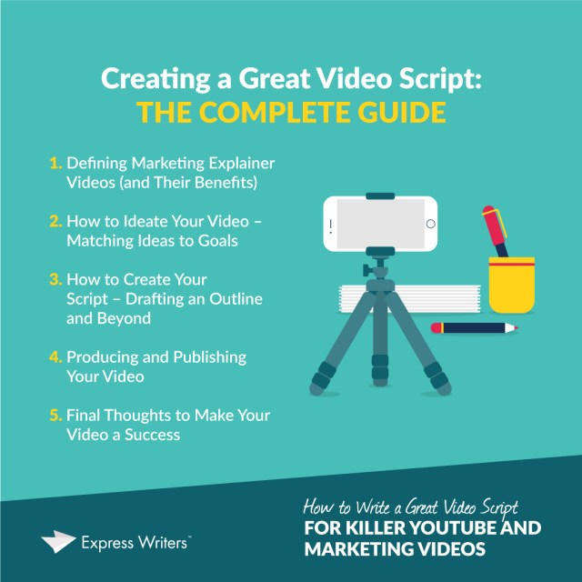 How to Write a Great Video Script for Killer YouTube and Marketing