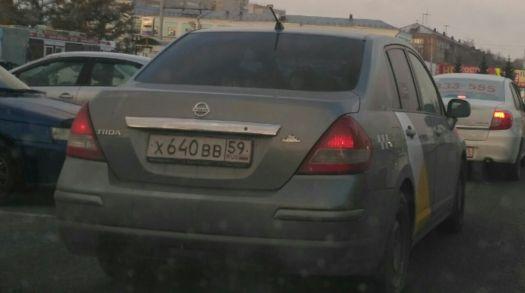 Nissan Tiida 2008, серый, Х640ВВ59