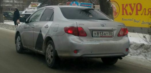 Toyota Corolla 2008, серый, У813АТ55