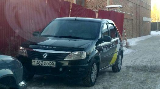 Renault Logan 2012, черный, Т362ХО55