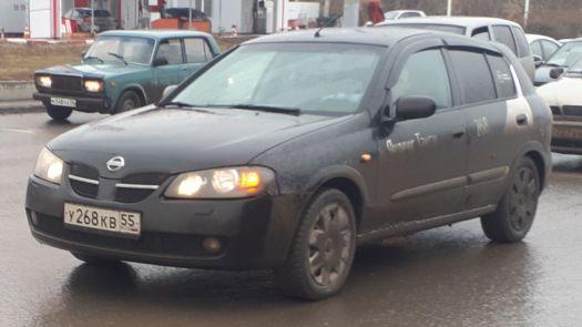 Nissan Almera 2006, черный, У268КВ55