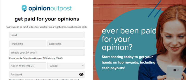 OpinionOutpost Paid Suvey