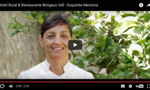Lidia Barber, chef del hotel y restaurante Binigaus Vell elabora una cocina de mercado respetuosa con la tradición