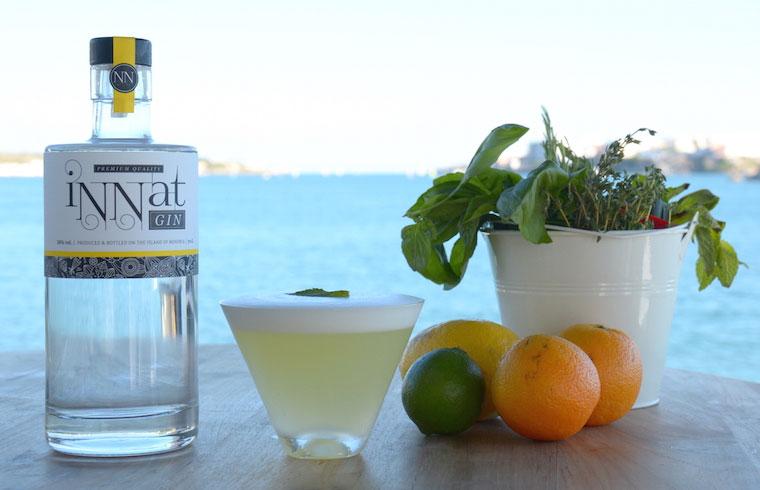 Tristán Timothy de Venecia Lounge & Events enseña a elaborar a través de Exquisita Menorca un cóctel de ginebra iNNat con limón y Menta