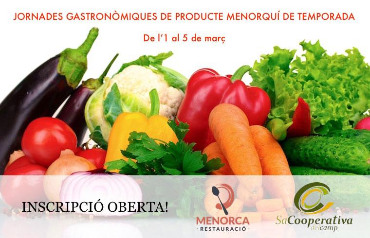Jornadas gastronómicas de producte de Menorca