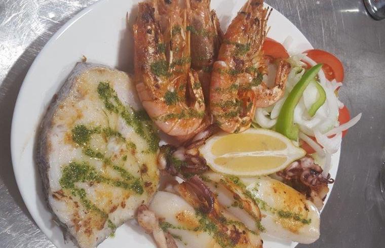 Gambas a la plancha Cafeteria Susy Exquisita Menorca