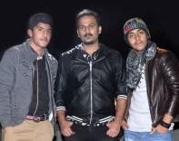 Messum, Usman Aftab with Singer Rizwan Anwar