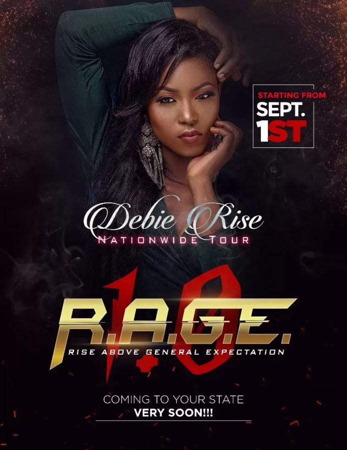 EMNews - BBN RUNNER-UP DEBIE RISE UNVEILS HOT NEW PHOTOS AHEAD OF HER 2017 NATIONWIDE TOUR THEMED RAGE 1